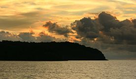 Tropical sunset. Sunset in tropical island of Langkawi - Malaysia Stock Image