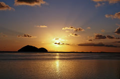 Tropical Sunset, Ko Pha Ngan  Royalty Free Stock Photography