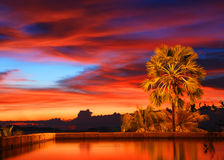 Tropical sunset Stock Image