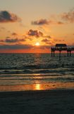 Tropical Sunset. Over the Gulf of Mexico as seen from Clearwater Beach on the west coast of Florida Stock Photo