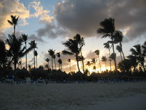 Tropical Sunset. Sunset from a beach in Punta Cana, Dominican Republic stock image
