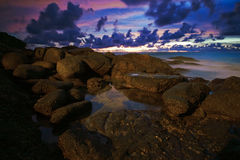 After tropical sunset Royalty Free Stock Photography