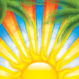 Tropical sunset background Royalty Free Stock Photo