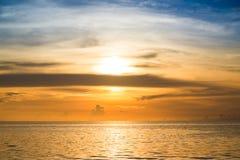 Tropical sunset on the beach. Kohkood. Thailand Royalty Free Stock Photography