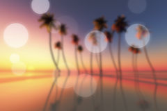 Tropical sunset blurred Royalty Free Stock Photography