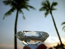 Tropical sunset and diamond Royalty Free Stock Image