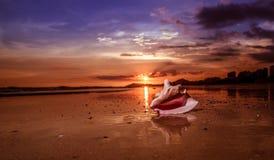 Tropical sunset. Hainan island, China. Sunset on the south-china sea Stock Image