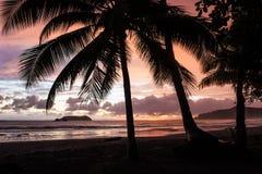 Tropical Sunset. Sunset at Manuel Antonio Beach, Costa Rica stock photos