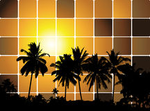 Tropical sunset, mosaic background for your design Stock Image