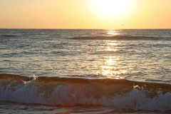 Sunset over the sea Royalty Free Stock Image