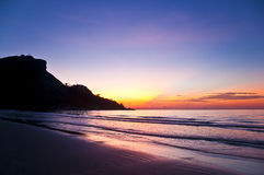 Free Tropical Sunset On The Beach Royalty Free Stock Photography - 18109917