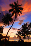 Tropical sunset. Sunset over Beau Vallon, Mahé, Seychelles Royalty Free Stock Photos