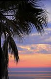 Tropical sunset over the ocean Stock Photography