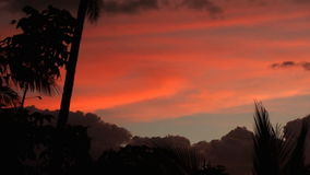 Vivid sunset over high mountains on Oriental Mindoro in Philippines stock video footage