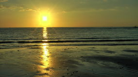 Tropical sunset in the Philippines. Tropical sunset over calm ocean during low tide In Antique on Panay island in Philippines stock video