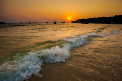 Tropical sunset in Sihanoukville Royalty Free Stock Image