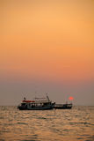 Tropical sunset in Sihanoukville Stock Photography