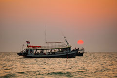 Tropical sunset in Sihanoukville Royalty Free Stock Photo