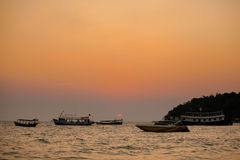 Tropical sunset in Sihanoukville Royalty Free Stock Photos
