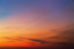Tropical sunset summer sky Stock Photo