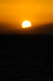 Tropical Sunset. Sun Setting on the Atlantic Ocean in Tenerife Canary Island Spain Stock Image