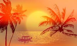 Tropical sunset or sunrise Stock Image
