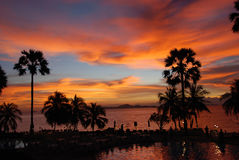 The tropical sunset in Thailand Stock Photo