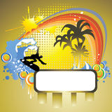 Tropical surf Stock Photo