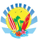 Tropical surf Royalty Free Stock Images