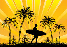 Tropical Surfer Stock Image