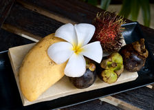 Tropical sweet delicious fruits Royalty Free Stock Photo