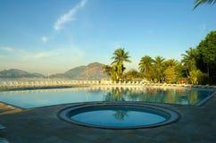 Tropical swimming pool Stock Image