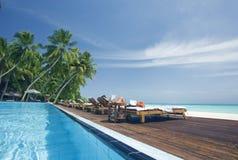 Tropical swimming pool Stock Photos