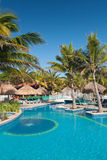 Tropical swimming pool Stock Photography