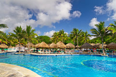 Tropical swimming pool in Mexico Stock Photography