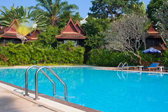 Tropical swimming pool in Thailand Stock Photography
