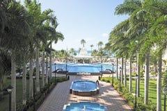 Tropical swimmingpool Stock Photo