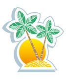 Tropical symbol Royalty Free Stock Photography