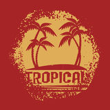 Tropical symbol stock illustration