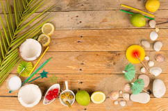 Tropical table setting background royalty free stock photo