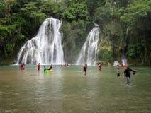 Tropical Tamasopo Waterfalls Royalty Free Stock Photo