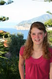Tropical Teen. Teenage girl  along the Amalfi coast in Italy Stock Images