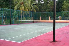 Tropical tennis Royalty Free Stock Image