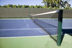 Tropical Tennis Court Stock Image
