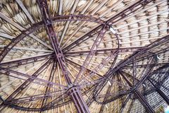 Tropical thatch roof isolated on white background Royalty Free Stock Photos