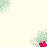 Tropical Theme Background. Clean background for every presentation, high resolution, perfect detail work. Illustration is Editable in the EPS File Royalty Free Stock Images