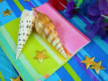 Tropical Themed Party Table Stock Photos