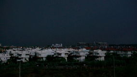 Tropical thunderstorm .skyline of  City Antalya. stock video