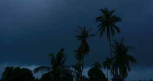 Tropical thunderstorm timelapse stock footage