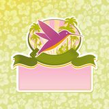 Tropical travel emblem Stock Photo